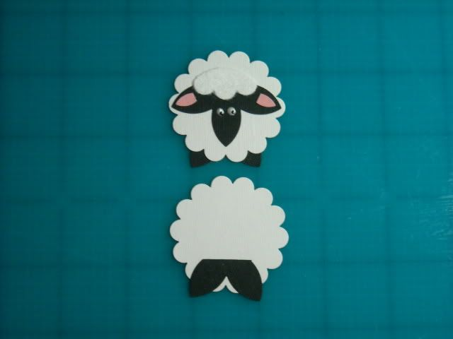 Punch Art Sheep-use scallop maker possible name tags
