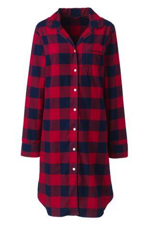Women s Long Sleeve Print Flannel Nightshirt  998623d78