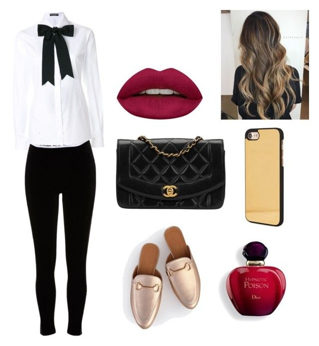 """""""Untitled #9"""" by cande-monier on Polyvore featuring River Island, Dolce&Gabbana, Chanel, Huda Beauty and Palm Angels"""