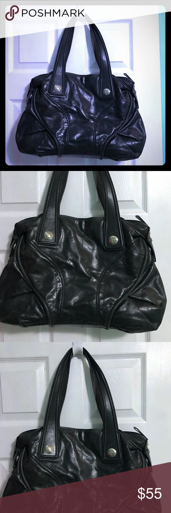 "Large Francesco Biasia Calf Leather Satchel Excellent pre-owned condition. 100% calf leather. 17""x10"". Francesco Biasia Bags Satchels"