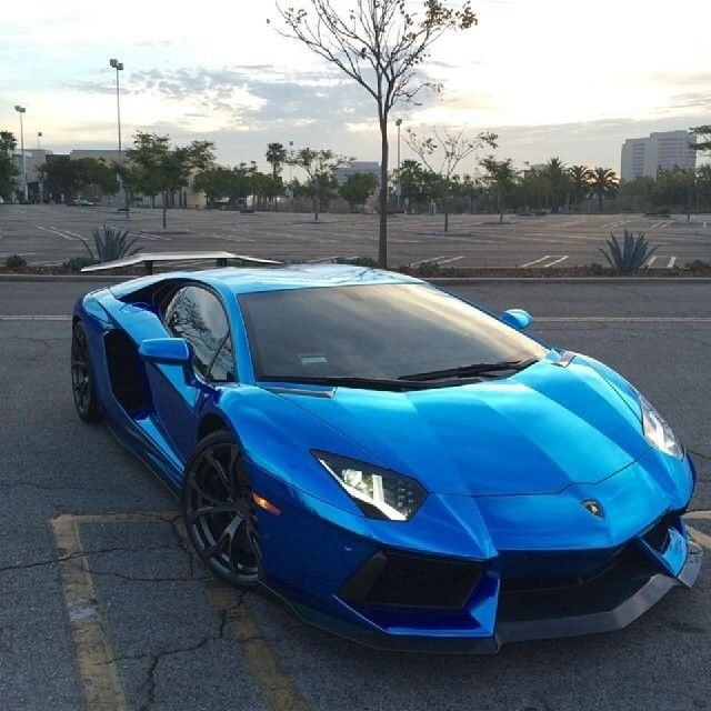 blue chrome aventador wrapped by lori konegni city car wraps clear bra - Lamborghini Aventador Blue Chrome