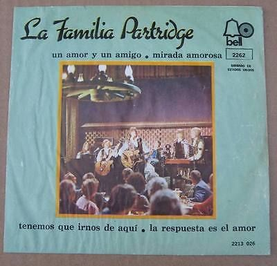 """The Partridge Family - Friend And A... + 3 - Mexican Picture Sleeve PS 7"""" single"""