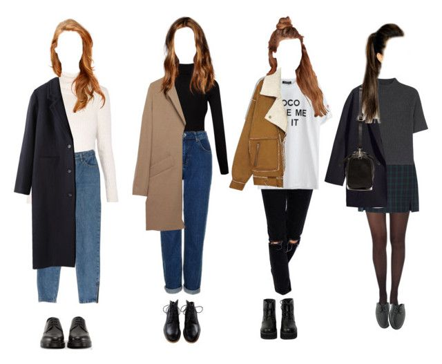 """""""Coats Coats Coats"""" by elisefrancesca ❤ liked on Polyvore featuring Dr. Martens, Splendid, Topshop, Morgan, Jacquemus, ASOS, The WhitePepper, Pretty Polly, Theory and A.P.C."""