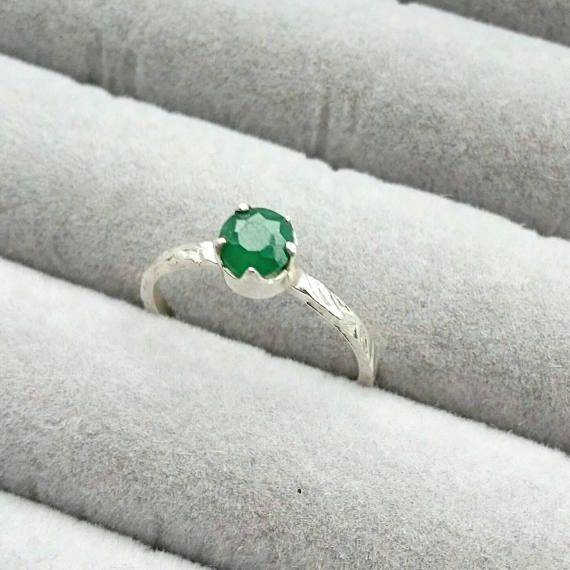 Check out this item in my Etsy shop https://www.etsy.com/uk/listing/591486975/green-emerald-ring-sterling-silver-green