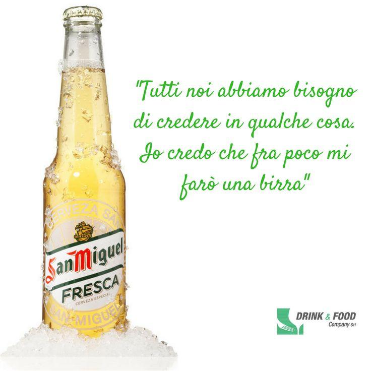 Se anche tu ne vorresti una proprio ora, condividi una #fresca con un amico. #drinkefood #birra