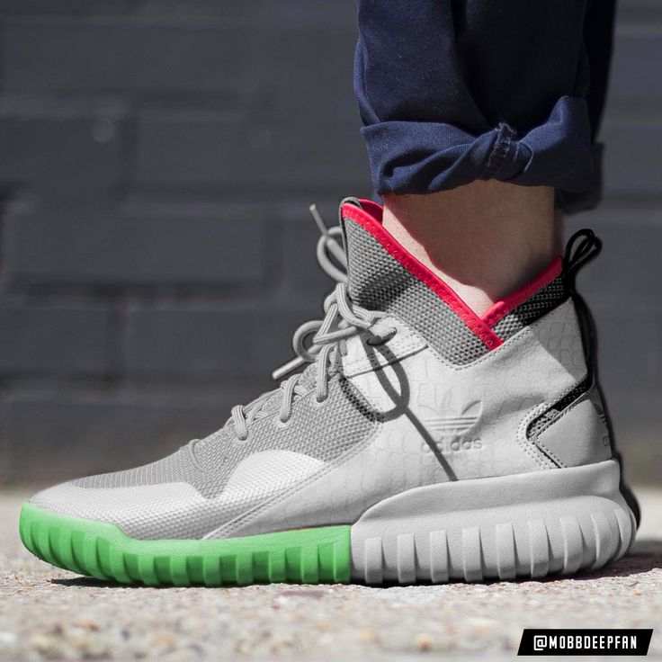 White And Grey Are Featured On This adidas Tubular X