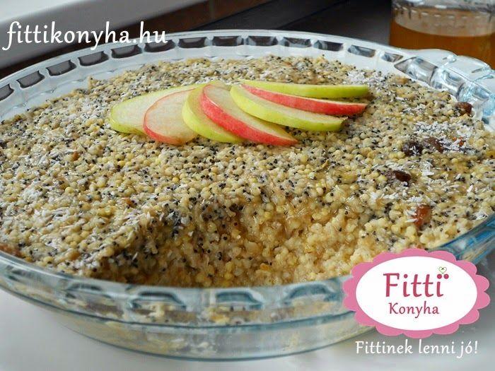 Fitti Konyha: Fitti almás köles - Egészséges reggeli