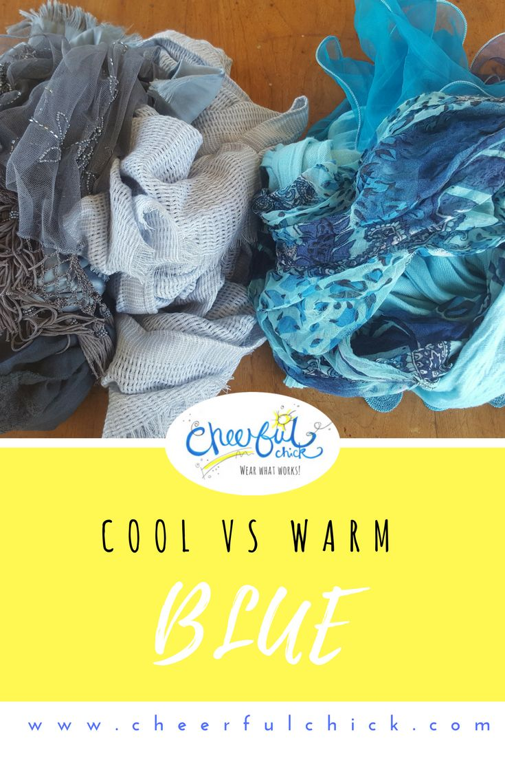 Colour Coach   Blue   Should I be wearing cool blue or warm blue and how can I tell the difference? Everyone can wear the colour blue. However, your 'wow' blue will be the one thatharmonises best with yourown natural colouring and undertone.