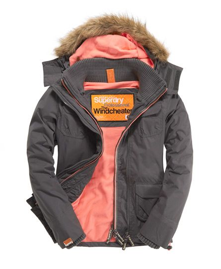 I want this jacket so bad.. Superdry Arctic Fur Windcheater - Women's Jackets & Coats