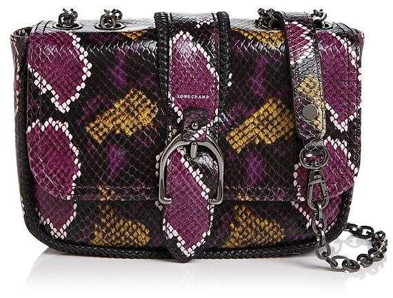 Longchamp Amazone Mini Multicolor Python Crossbody | Crossbody ...