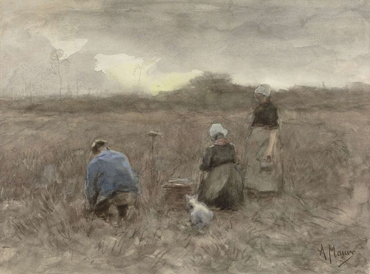 Aardappelrooiers, Anton Mauve, 1848 - 1888