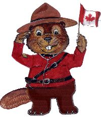 Canada day beaver mountie