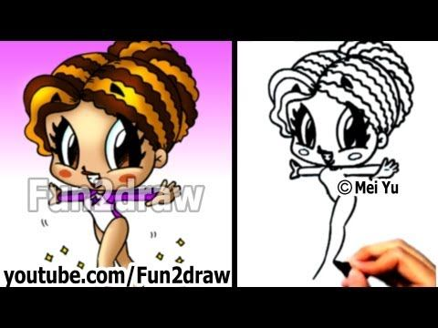 How to Draw Cartoon People - Gymnast Girl