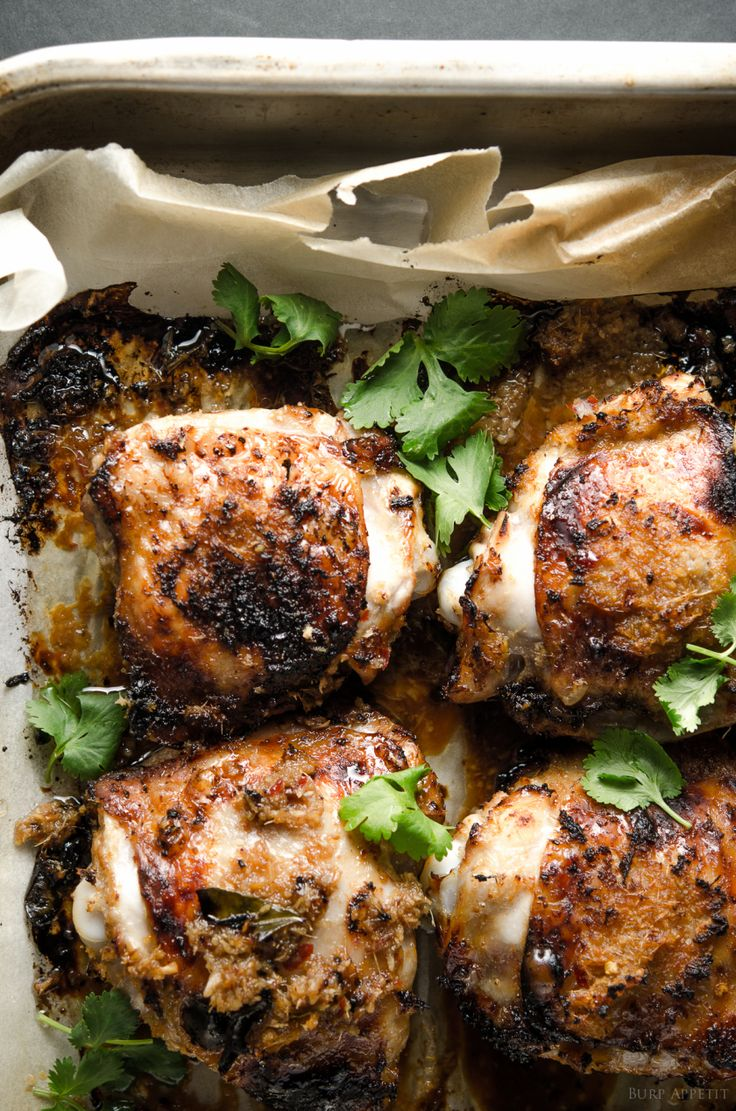 Roast Chicken Glazed with Tamarind and Kaffir Lime Leaf -So, if you don't know what to cook, try this delicious recipe .