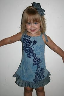 adult t-shirt to toddler dress tutorial