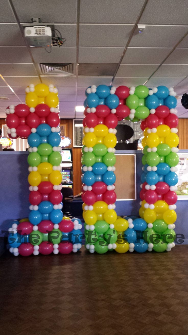 Bowling pin balloons - These Were Made For Our 10th Birthday Party At Picnic Point Bowling
