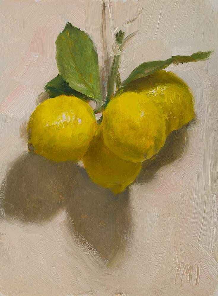 daily painting titled Lemons - click for enlargement