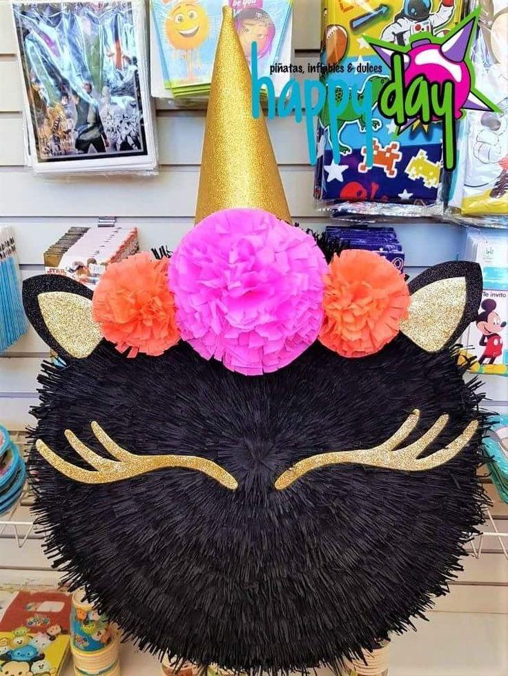 Piñata Unicornio negro (tambor)