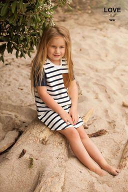 Statement Stripe Tee Dress by Love Knot War