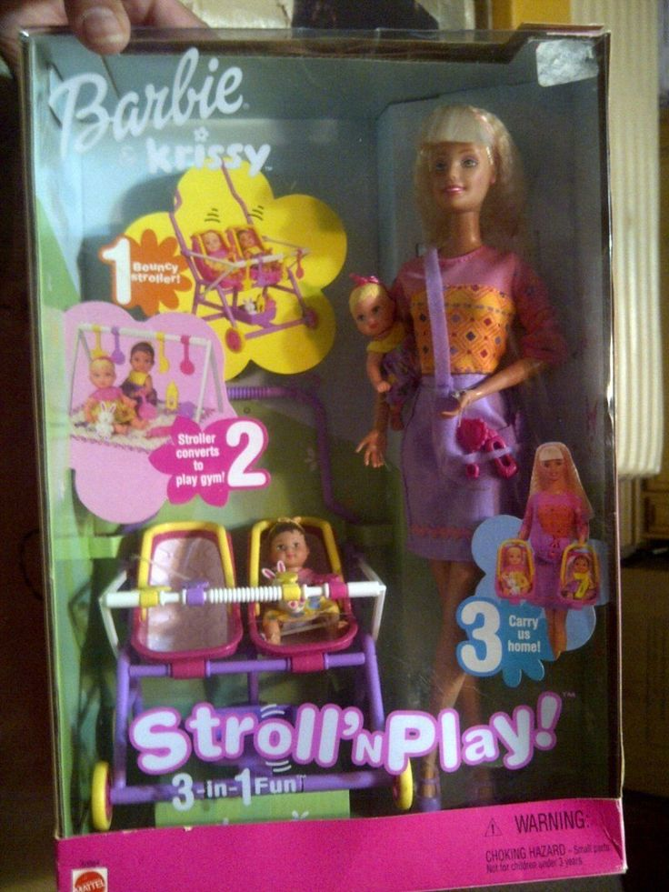 2001 NIB STROLL N PLAY 3 IN 1 KRISSY AND BARBIE SET picclick.com