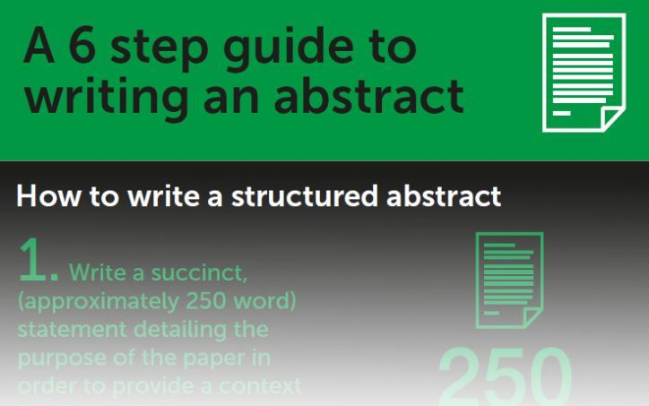 A 6 step guide to writing an abstract - Struggling to summarize your #research into a comprehensive #abstract?  Take a look at Emerald's 6-step #guide to help you get started!