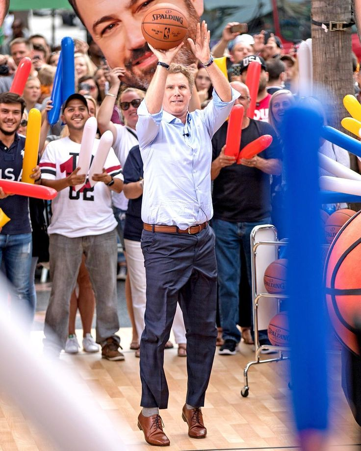 Will Ferrell is giving us some serious Semi-Pro vibes. It's almost like he's in a basketball trance. 🏀 (📷: RB/Bauer-Griffin/GC Images)