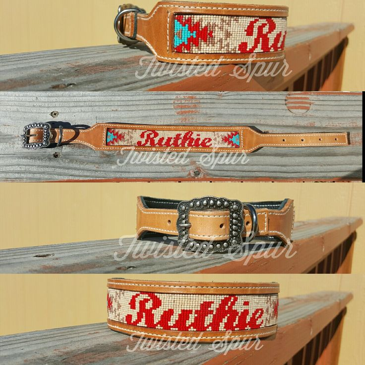 Custom dog collar by Twisted Spur! Follow us on Facebook, Instagram or check out our website! #TwistedSpur #KeepItTwisted