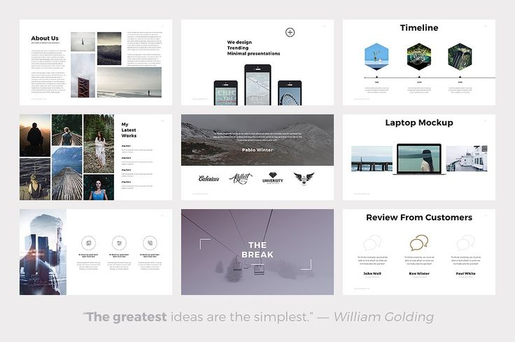 Quintus Minimal Keynote Template by SlidePro on @creativemarket