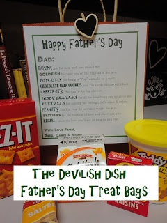 The Devilish Dish: Father's Day Snack Bags with poem!  So cute for Dad!