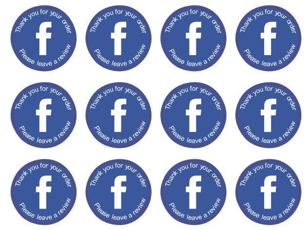 Facebook review business stickers glossy packaging stickers matte stickers thank you for your order stickers