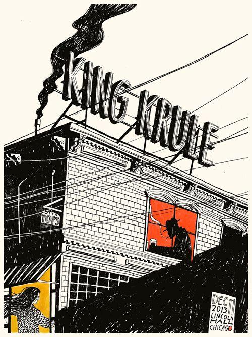 Leslie Herman's Hand-Painted King Krule Poster