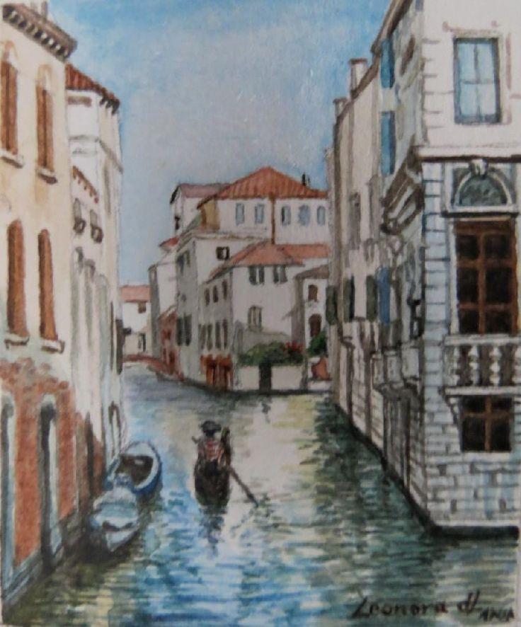 Miniature of Venice canal