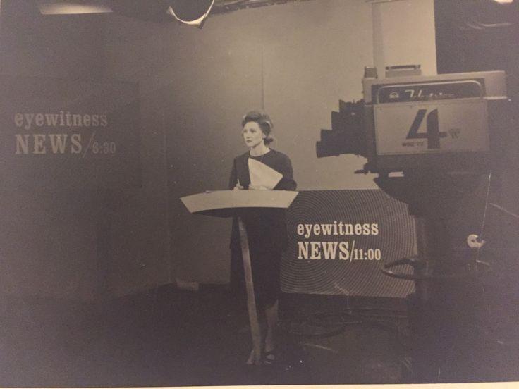 Joanne Desmond, WBZ Boston's first female evening news anchor woman circa 1964