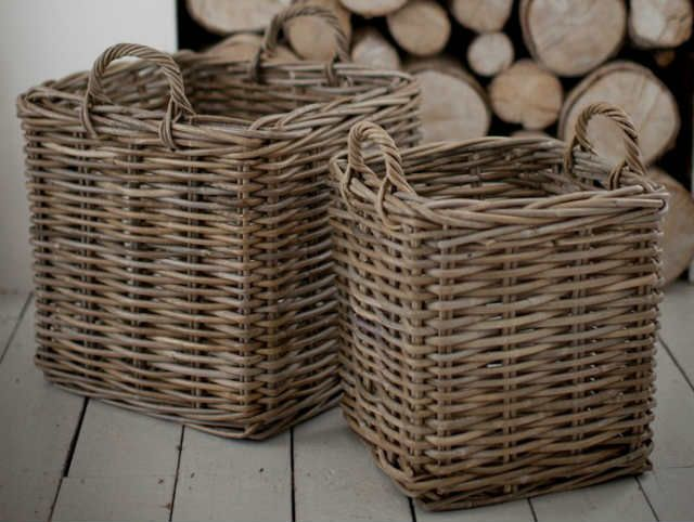 Heavy Duty Square Wicker Log Baskets - GT -LOGB03
