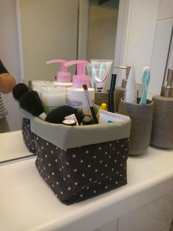 Rangement de salle de bain en tissu