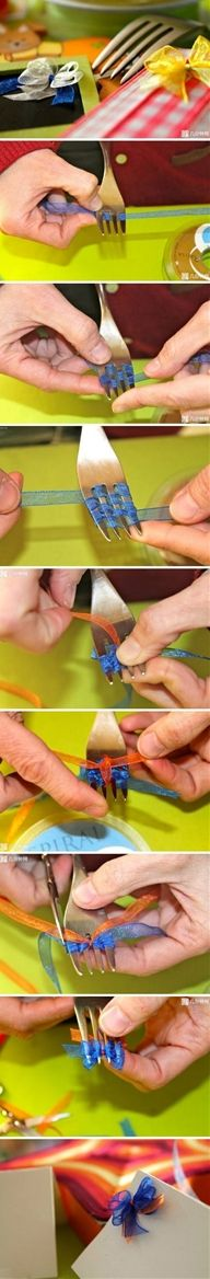 how to make tiny bows! Now why didn't i think of this!