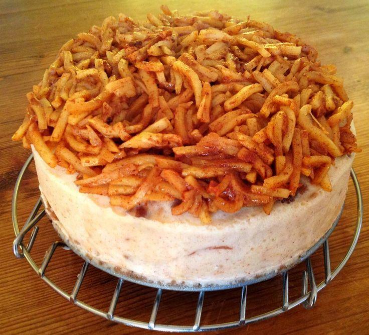 Appel-kaneel cheesecake uit de Instant Pot.
