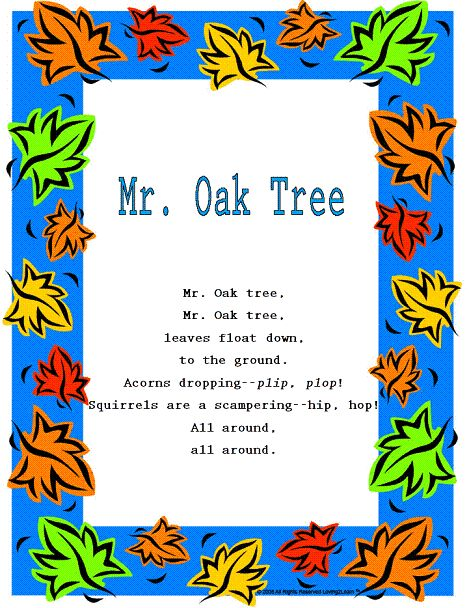 "Fall Rhymes & Songs: ""Mr. Oak Tree"" and Sing Along ..."