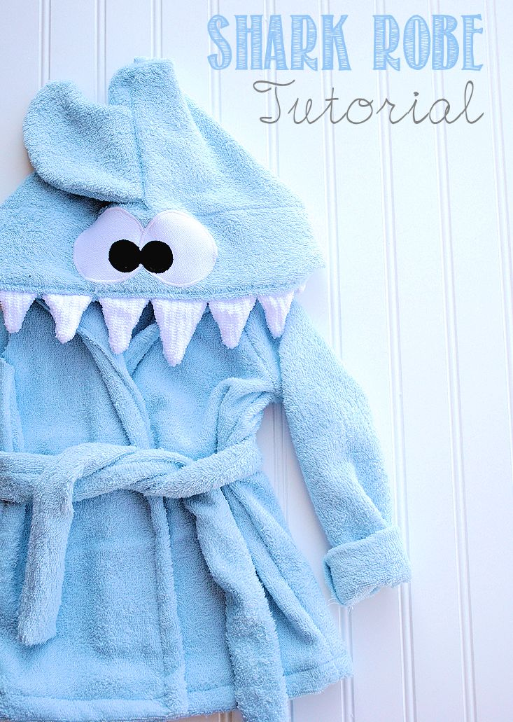 Shark Baby Robe Tutorial by Crazy Little Projects
