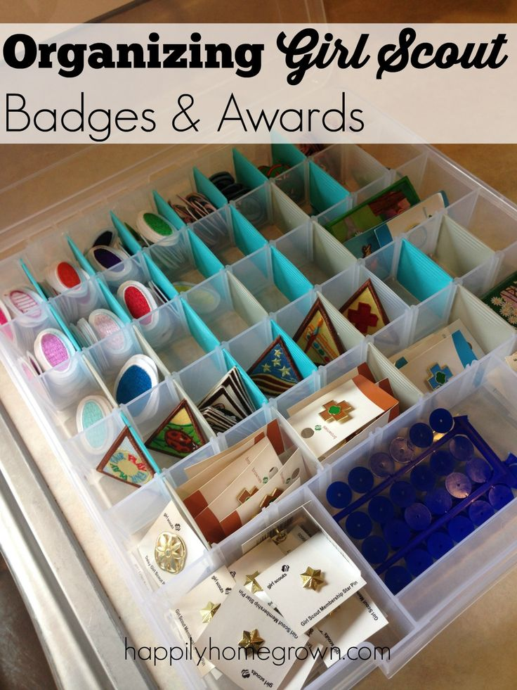 Organizing Girl Scout badges & awards until its time to hand them out each month has made planning our awards nights so much easier.