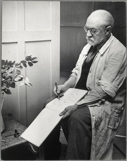 Matisse sketching.