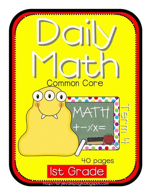 Lory's Page: Grade 1 Daily Math