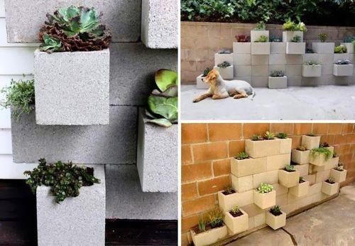 jardin-con-bloques-de-cemento