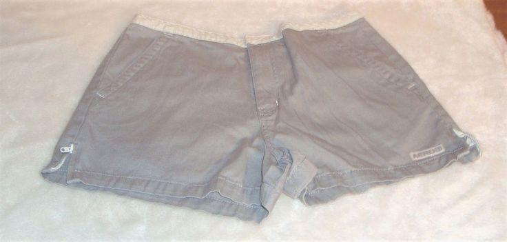Aéropostale Sz 4 Gray W/ White Trim Cotton Short Shorts W/ Flap Pockets #Aropostale #ShortShorts #Casual