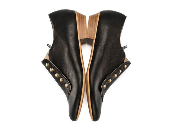 Grazia Pisi nero scarpe di cuoio di TamarShalem su Etsy #leather #shoes