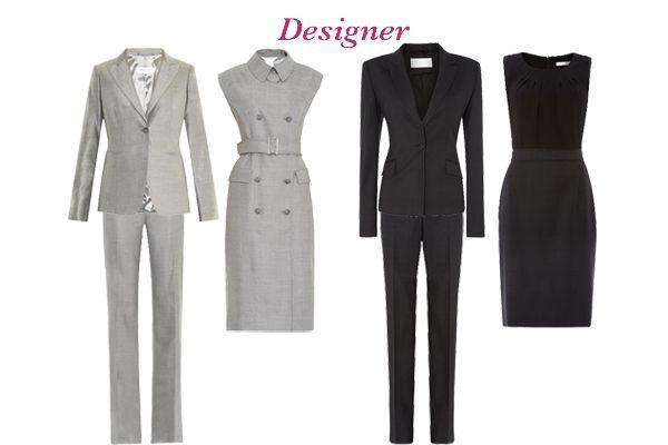 Capsule wardrobe business wear, choosing a women's suit, designer options http://ht.ly/JdNfh