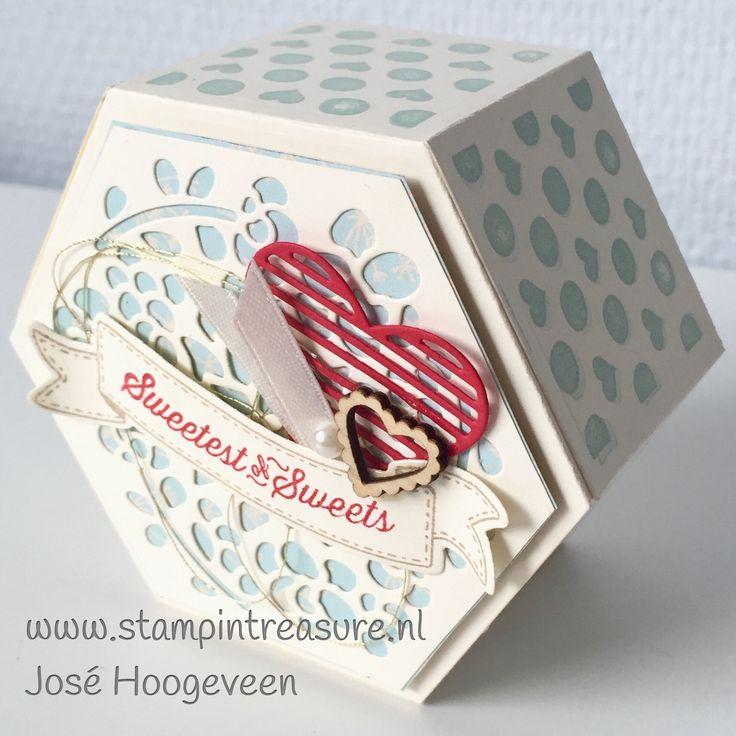 Window box stampin up, verpakking, cadeau, doe het zelf Stampin up producten koop je bij www.stampintreasure.nl