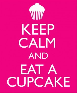 Keep Calm and Eat a Cup Cake Art Print - Choose your Colour! 8 x 10