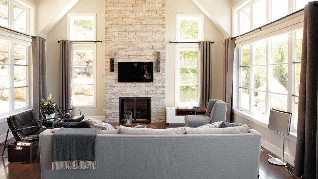 Une maison au possibilités nouvelles | CHEZ SOI © TVA Publications | Yves Lefebvre #salon #sejour #deco #foyer