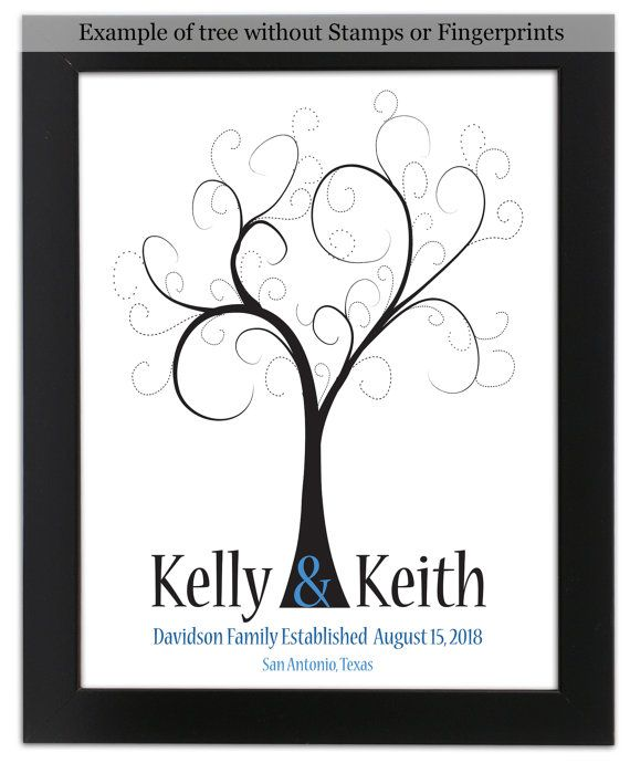 THUMBPRINT TREE wedding tree guest book by SugarVineArt on Etsy